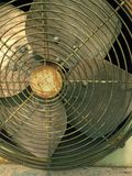 Closeup cooling old fan coil  royalty free stock photo