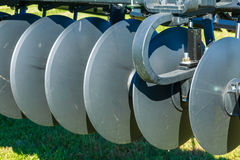 Closeup of Farm Disc Blades Royalty Free Stock Images