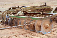 Closeup of Farm Equipment Called a Disc royalty free stock photography