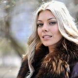 Closeup fashion beautiful woman portrait with long hair Royalty Free Stock Photo