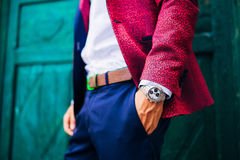 Free Closeup Fashion Image Of Luxury Watch On Wrist Of Man.body Detail Of A Business Man. Royalty Free Stock Image - 90887476
