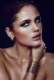 Closeup fashion portait of sexy model Royalty Free Stock Photos
