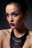 Closeup fashion portait of sexy model Royalty Free Stock Photo