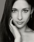 Closeup fashion portrait of woman Stock Images