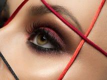 Closeup fashion portrait of young woman Royalty Free Stock Photo