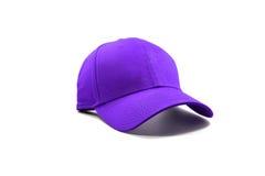 Closeup of the fashion purple cap