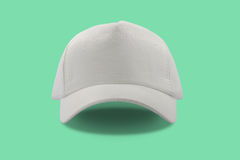 Closeup of the fashion white cap Royalty Free Stock Photography