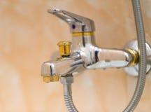 Closeup of faucet. Royalty Free Stock Photography