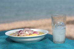 Closeup fava ouzo stock images