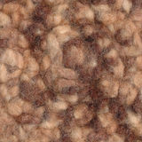 Closeup felted wool in brown shades Stock Images