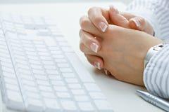 Closeup of femal hands Stock Photo