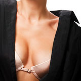 Closeup of female bra Stock Image