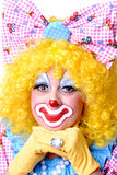 Closeup of Female Clown Royalty Free Stock Photos