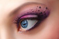 Closeup female eye with beautiful makeup Royalty Free Stock Photos