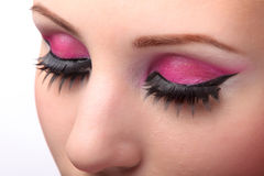 Closeup of female eyes Stock Photo
