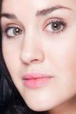 Closeup of female face Stock Photos