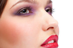 Closeup of female face Stock Photography