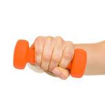 Closeup on female hand holding dumbbell Royalty Free Stock Photography