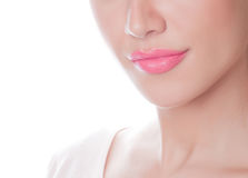 Closeup of female lips Stock Image