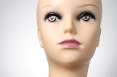 Closeup of a female mannequin head Royalty Free Stock Image