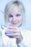 Closeup of a female researcher Stock Photos