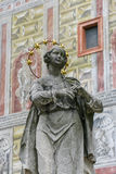 Closeup female statue in Prague Royalty Free Stock Photography
