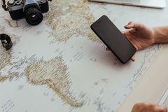 Planning the holiday trip royalty free stock images