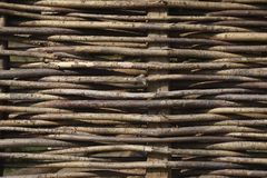 Fence made out of branches of a Willow royalty free stock images