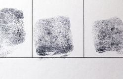 Closeup of a finger prints. Royalty Free Stock Image