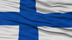 Closeup Finland Flag. Waving in the Wind, High Resolution Royalty Free Stock Image