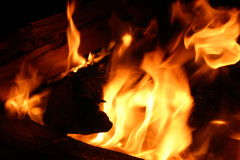 Closeup of fire Royalty Free Stock Photos