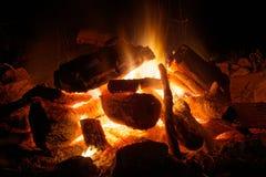 Bonfire. Closeup on fire flame bonfire Stock Photos