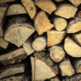 Closeup of firewood as background texture Royalty Free Stock Photos