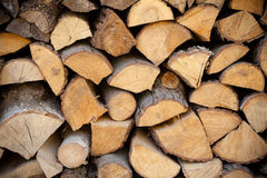Closeup of firewood as background texture Stock Image