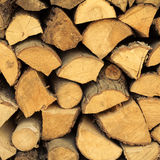 Closeup of firewood as background texture Stock Photography