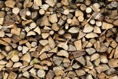Firewood closeup royalty free stock images