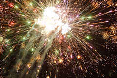 Closeup of Fireworks Royalty Free Stock Image