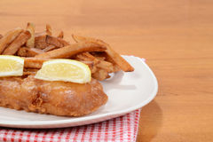 Closeup fish and chips Stock Photography