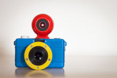 Closeup of Fisheye Baby 110 Bauhaus analog camera Stock Image