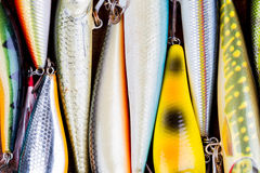 Closeup fishing bait wobbler from top Stock Images