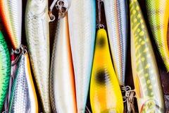 Closeup fishing bait wobbler from top Royalty Free Stock Photos