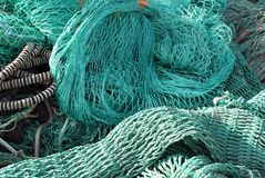 Closeup fishing net Royalty Free Stock Photography