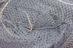 Closeup of a fishing net Royalty Free Stock Photos