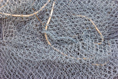 Closeup of a fishing net Royalty Free Stock Photography
