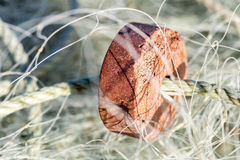 A closeup of a fishing net Stock Photography