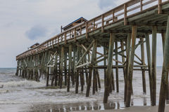 Closeup of a Fishing Pier Royalty Free Stock Image