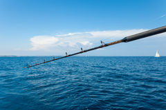 Closeup of fishing rod Royalty Free Stock Images