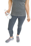 Closeup on fitness woman with bottle of water Stock Image
