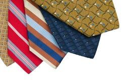 Closeup of five ties Stock Images