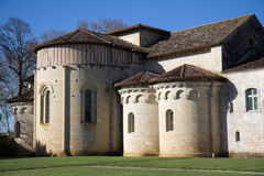 Closeup Flaran Abbey (France). Close-up of the Flaran Abbey in Gascony. It's a Cistercian monastery of the twelfth century. It lies in the valley of the Baïse royalty free stock photos